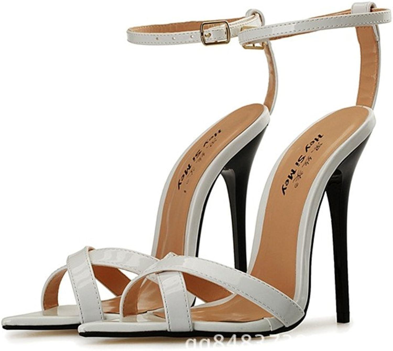 Hey si mey Women Super-High Heel Pump Platform shoes Boots Sandals,US9.5-17,A-29 White