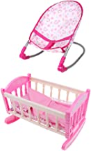 Baby Doll Bouncer Chair Bed Cradle Crib Model ABS Plastic Furniture Model for 9-12inch Doll Kids Pretend Play Toy