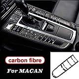 GLFDYC Coche Control Central Interior Decorativo Panel para Porsche Macan, Car Fibra Carbono Tablero Instrumentos Navegación Aire Acondicionado CD Cubierta Accesorios
