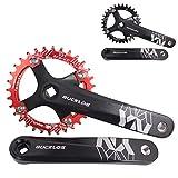 BUCKLOS 【US Stock】 MTB 170mm Square Taper Crankset, 104 BCD Mountain Bike Narrow Wide Tooth...