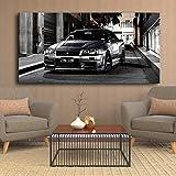Leinwand Malerei Hd-Druck No Frame Sportwagen Artwork Moderne Nissan Skyline Gtr Auto Bilder Nachtwand Kunst Poster Home Decor Gemälde 50 * 70cm