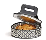 Picnic Plus Round Thermal Insulated Pie,Cake, Dessert, Appetizer Carrier Holds Up to a 12' Dish- Mosaic
