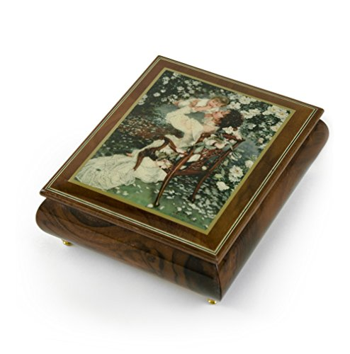 Handcrafted Ercolano Music Box Featuring Mothers Love by Sandra Kuck - Many Songs to Choose - Choose Your Song