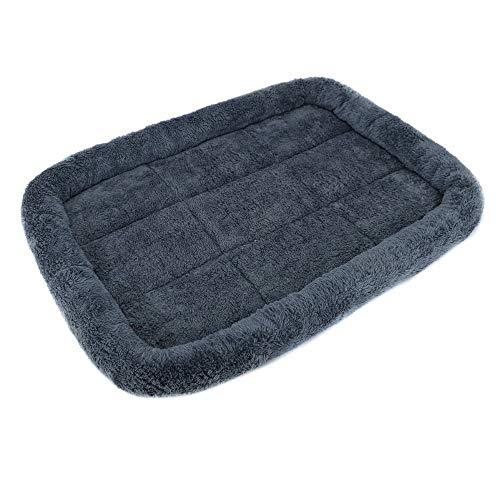XSHIYQ Hundepolster-Bettmatte Waschbare Kistenmatratze rutschfeste Haustierkissen Hundebett Waschbare Haustiermatratze M 60 x 45 cm Dunkelgrau