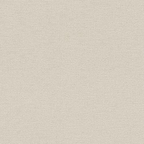 rasch Tapete 448634 aus der Kollektion Florentine II – Einfarbige Vliestapete in zartem Beige – 10,05m x 53cm (L x B)