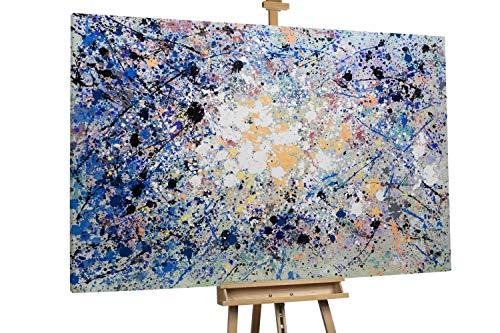 'Veilchentanz' 180x120cm | Abstraktes Bild Lila XXL | Modernes Kunst Ölbild