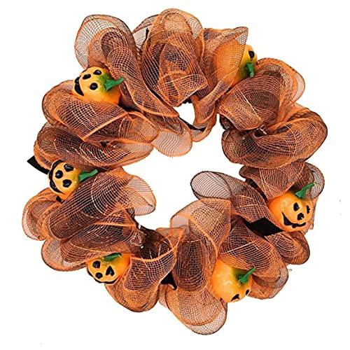Kongqiabona-UK Halloween Calabaza Guirnalda Adornos Decoración Horror Calabaza Calabaza Atrezzo
