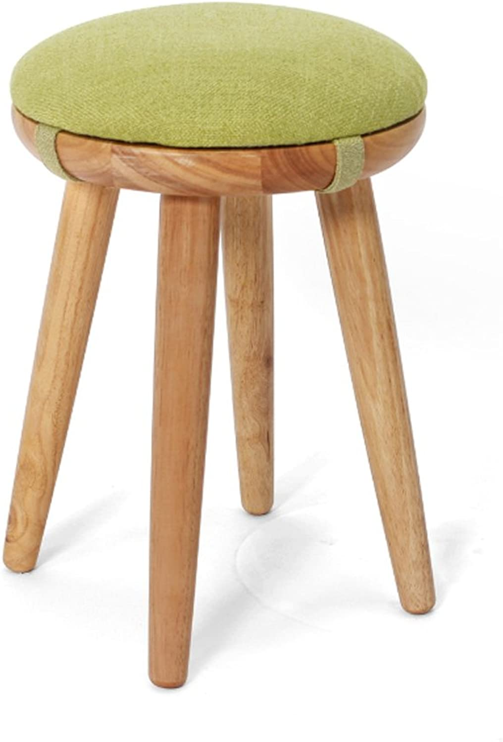 Japanese Style Rubber Wood Stool, Small Round Bench Stool for Dressing Table Home Coffee Table Stool Chair (color   B-31  40CM)
