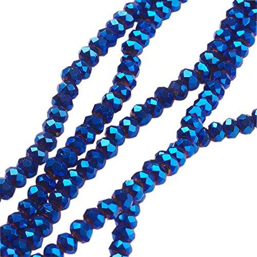 44 cm de Longitud//5 cm de extensi/ón Juego de Collar y Pendientes de 3 hebras con Cuentas de Cristal Negro en Tono Plateado Avalaya