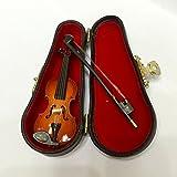 Puppenhaus Miniatur Holz Violine Geige Modell Für Action-Figuren Puppe Zubehör - 17cm