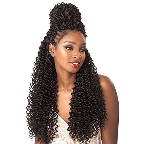 "Sensationnel Lulutress Crochet Braid Island Twist 18"" (4-pack) (#1B Off Black)"