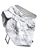 Wake In Cloud - Marble Blanket Throw, Black White and Gray Grey Modern Pattern Printed, Soft Microfiber (45'x60')
