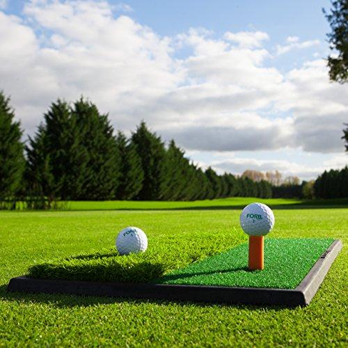 FORB Start Golfübungsmatte (2-in-1 Fairway/Rough) (60cm x 30cm) – Üben wie die Profis mit Dieser tragbaren Mini-Fairway und Rough Abschlagmatte (2 in 1)