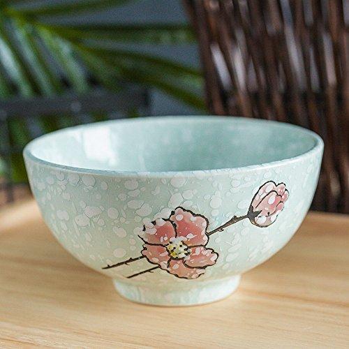 WRL Bol en Céramique de Style Japonais Bol de Riz de 4,5 Pouces Petit Bol de Soupe Flocon de Neige Bol de Couleur sous Glaçure 10 Paquet,B,10