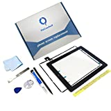 iPad 2 Screen Replacement,FixCracked iPad 2 Digitizer Touch Screen Front Glass Assembly Black-Includes Home Button + Camera Holder + PreInstalled Adhesive with tools kit
