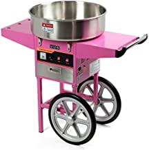 VIVO Pink Electric Commercial Cotton Candy Machine, Candy Floss Maker with Cart CANDY-V002