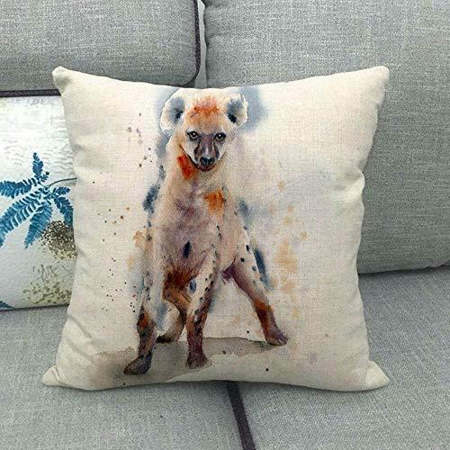 LPLH Perro Gato Conejo Oso Linda Mascota patrón Animal Lindo Funda de Almohada para mencionar la ilustración de la Almohada 1397-12_45 * 45cm