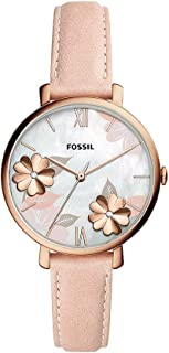 Fossil Jacqueline Women's White Dial Leather Analog Watch - ES4671