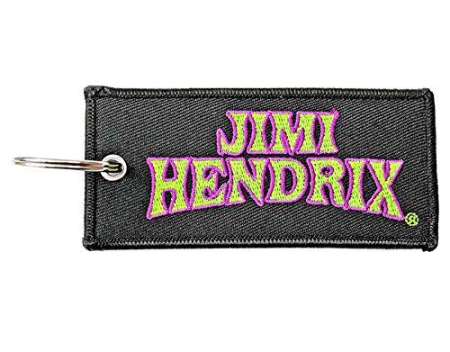 Jimi Hendrix Schlüsselring Keychain Arched Logo Patch Nue offiziell Schwarz