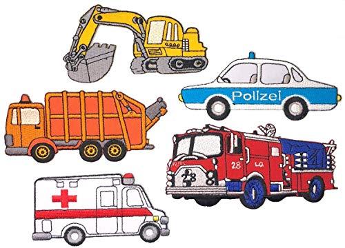 i-Patch - Patches - 0122 - Feuerwehr - Polizei - Müllwagen - Traktor - Krankenwagen - Auto - Flicken - Aufnäher - Badges - Bügelbild - Aufbügler - Iron-on - Applikation - zum aufbügeln - Patch
