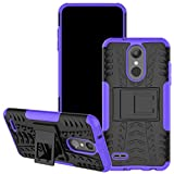 Viodolge Case Compatible with LG Aristo 2 Plus, Tribute Dynasty/Zone 4/Tribute Empire / K8 2018 Case, [Shockproof] Hybrid Tough Rugged Dual Layer Phone Case Cover with Kickstand (Purple)
