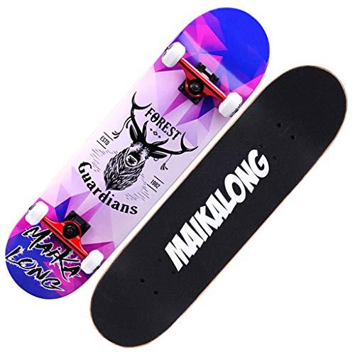 Skateboarden 7A Maple Plus Spezialpaket Allgemeines Longboard Für Erwachsene, Jugendliche Und Kinder Cruiser Kompressions- Und Rissbeständigkeit (Color : A, Size : 79 * 20CM)