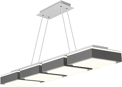 Mogicry Sala de Estar Creativa Iluminación led Regulable Lámpara Colgante Cabeza única Hogar Cable retráctil Ajustable