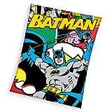 Batman Plaid Fleece, Polyester, Mehrfarbig, 110x 140x 2cm