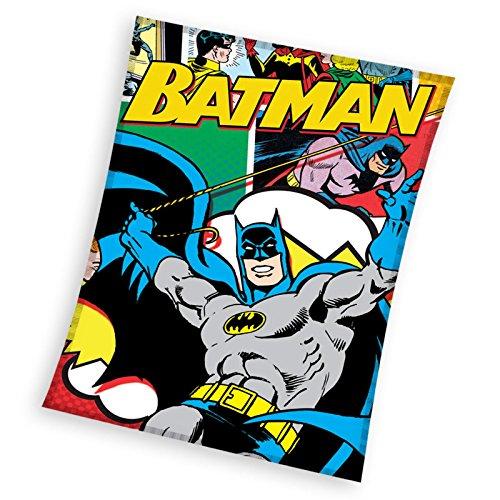 Batman Plaid Pile, Poliestere, Multicolore, 110x 140x 2cm