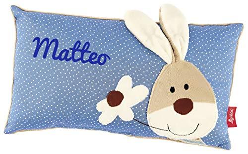 Sigikid 40992 - Babykissen Semmel Bunny mit Namen beschriftet