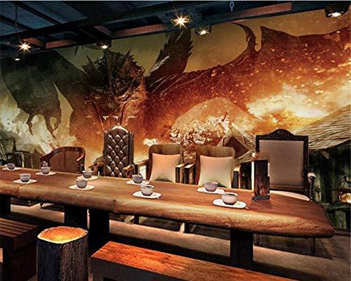 Mbwlkj Die Neuesten High-End Menschen Drachen Kleidung Fototapeten Tapeten Wohnkultur Hintergrund Wandbild Behang-300cmx210cm