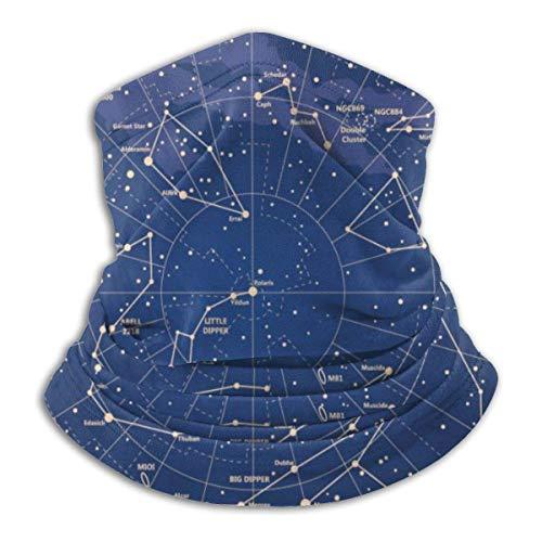 Randy-Shop 12 Constellation Universe Galaxy Space Stars Polainas con Cuello más cálido Unisex
