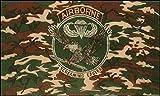 U24 Fahne Flagge Airborne Screaming Eagle Camouflage 90 x 150 cm