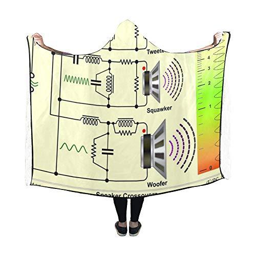 Zemivs Hooded Blanket Speaker Crossovers Schaltplan Decke 60x50 Zoll Comfotable Hooded Throw Wrap