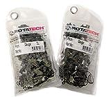 X 2 (Deux ) 14 ' Véritable Rotatech Chaîne Tronçonneuse Paquet de 2 Chaînes Compatible avec Stihl 021 023 MS210 MS230...