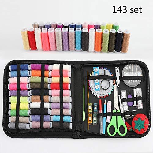 143 stuks naaisetje met 30 klosjes draad naalden enz. Voor volwassenen huisvrouw kinderen reizen naaisets voor thuis premium naaibenodigdheden