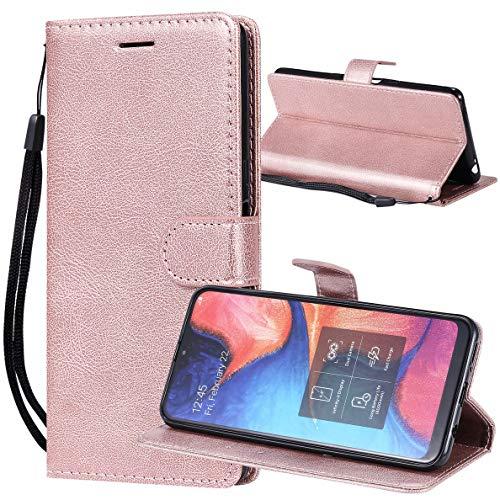 Yiizy Handyhüllen für Honor 8S KSE-LX9 Ledertasche, Fashion Stil Lederhülle Brieftasche Schutzhülle für Honor 8S KSA-LX9 hülle Silikon Cover mit Magnetverschluss Kartenfächer (Roségold)