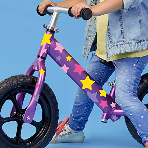Wandtattoo Loft Fahrradaufkleber 54 STK. Rosa Gelbe Sterne Mädchen Fahrrad Sticker Fahrraddesign Kinderfahrrad