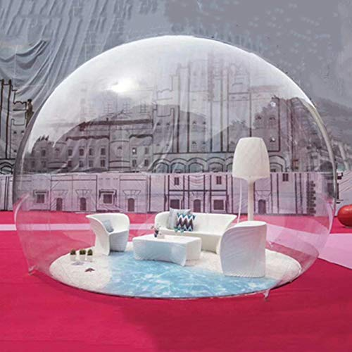 Inflatable Bubble Camping Tent 10ft Commercial Grade Outdoor Clear Dome Camping Cabin Bubble Tent with Blower for DIY Outdoor Family Backyard Camping Stargazing (10ft Transparent Tent, without Tunnel)