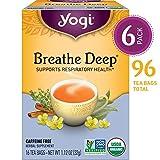 Yogi Tea - Breathe Deep - Supports Respiratory Health - 6 Pack, 96 Tea Bags Total