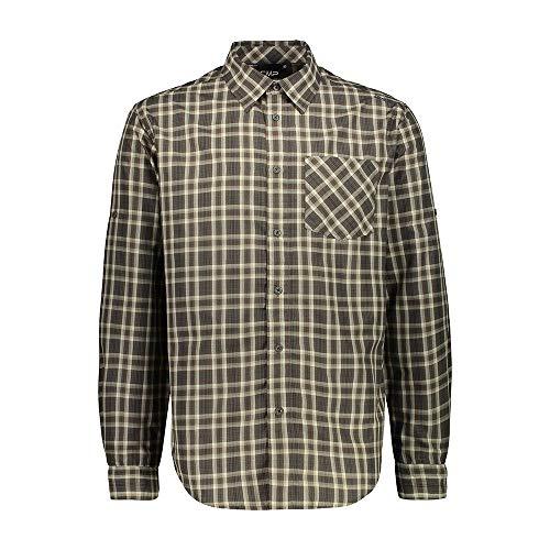 CMP Herren Hemd Langarm-Shirt mit Dry Function Technologie, Corda-Wood, 52, 30T9927