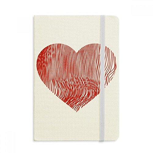 DIYthinker Finger Print Valentinstag-Herz Notebook Stoff Hard Cover Klassisches Journal Tagebuch A5 A5 (144 X 210mm) Mehrfarbig
