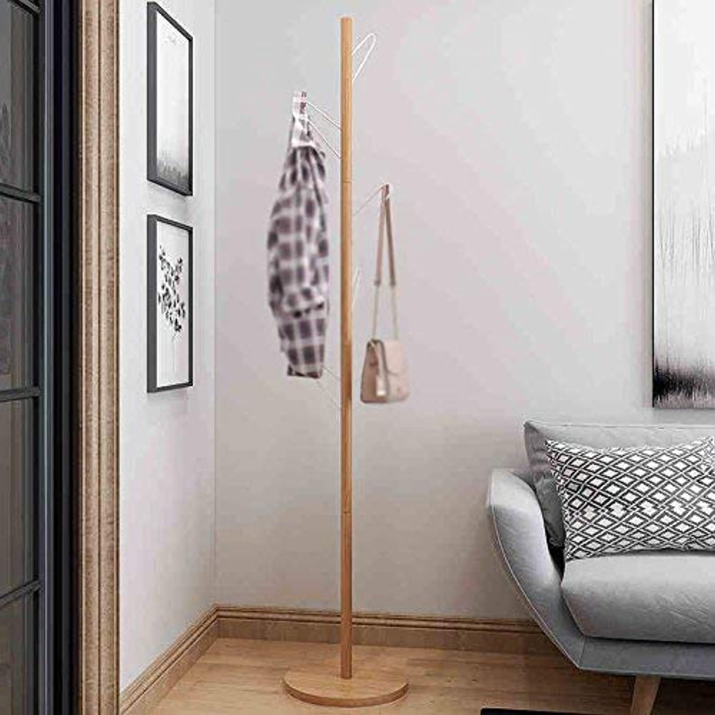 Coat Rack Coat Stand Coat Hook Nordic Style Clothes Hanger Pure Wood Floorstanding Simple Bedroom, KejingMiao