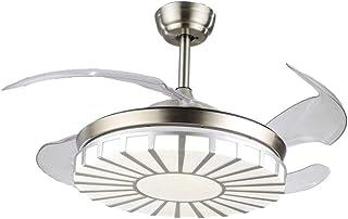 Aboyia Modern Invisible - Ventiladores de techo - Lámpara LED de 42 '' iluminación tricolor ajustable y luz de ventilador de techo de tres etapas, lámpara de dormitorio de salón adecuada (tiras)