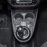 ZHANGDAN Rivestimento Telaio Decorazione consolle Centrale Auto, Scatola Cambio Cambio Decorazione Coperchio Adesivo Modifica Auto per Mercedes Smart 453 Fortwo Forfour