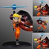 Gddg Figura de acción Naruto Shippuden Escena Uzumaki Naruto Batalla Rasengan Personaje de Dibujos Animados Modelo decoración Estatua 15 CM-15CM
