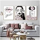 Parfüm Lippen Poster Mode Leinwand Malerei Blumen