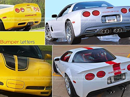 SF Sales USA - Red Bumper Letters fit Corvette C5 1997-2004 Front & Rear Plastic Inserts