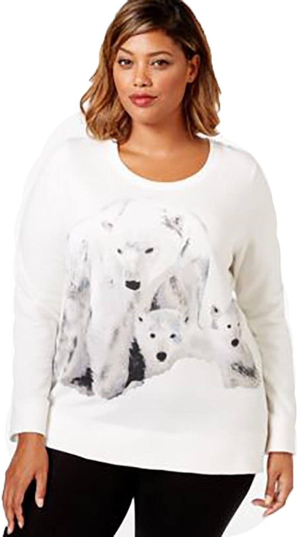 Style & co. Plus Size Polar Bear Printed Shirt