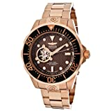 Invicta Men's 13713 Pro Diver Automatic Brown Textured Dial 18k Rose Gold Ion-Plated Watch